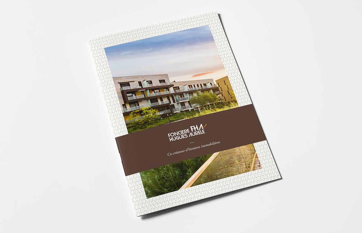 Brochure corporate Foncière Hugues Aurèle réalisation Agile Business