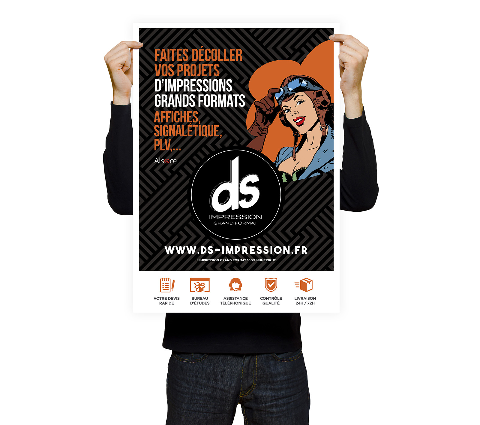 DS Impression grand format affiche et PLV