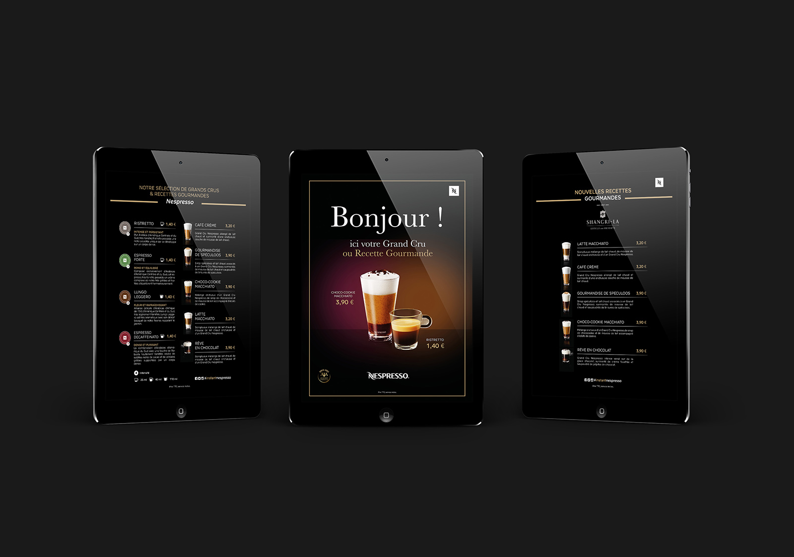 PLV In store Nespresso digitale